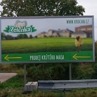 Billboard ukazuje cestu k nám