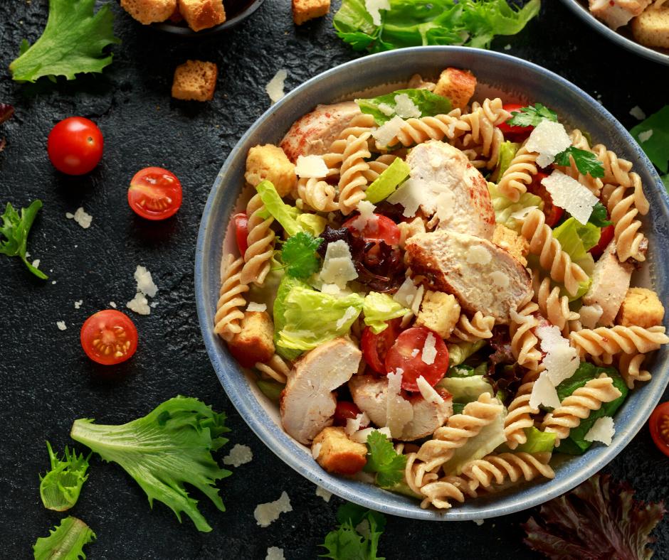 Těstovinový salát á la Ceasar