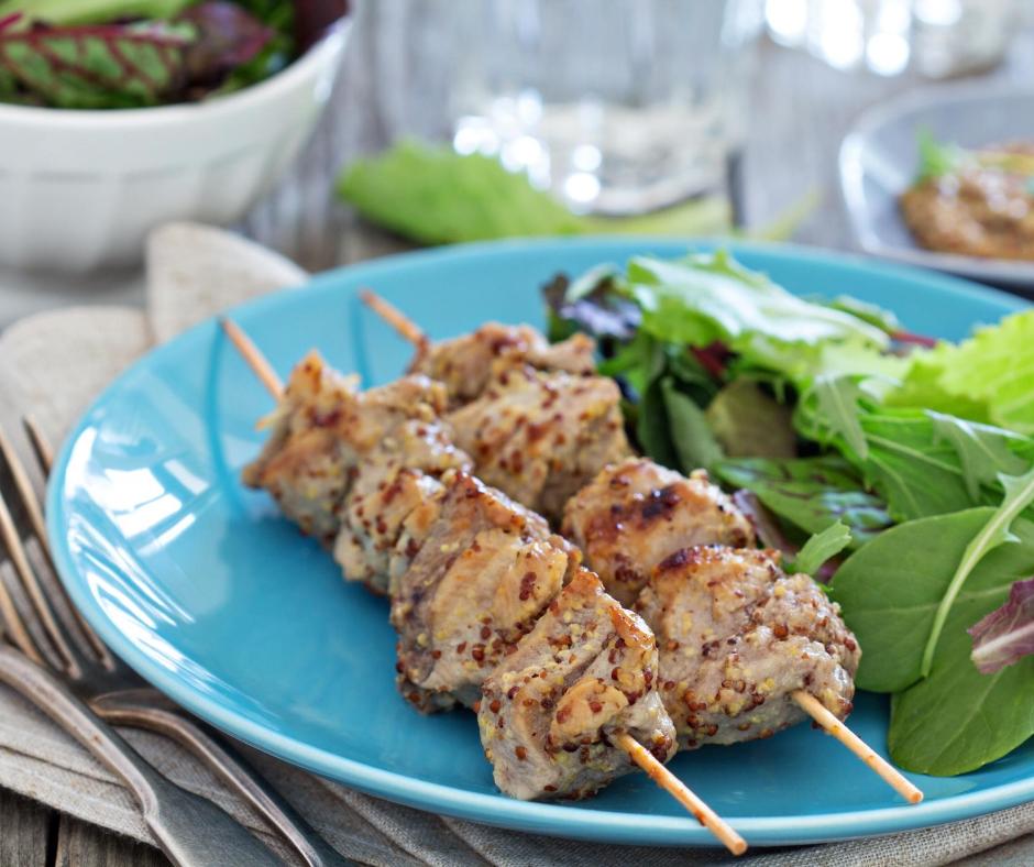Krůtí kebab s petrželkovou salsou