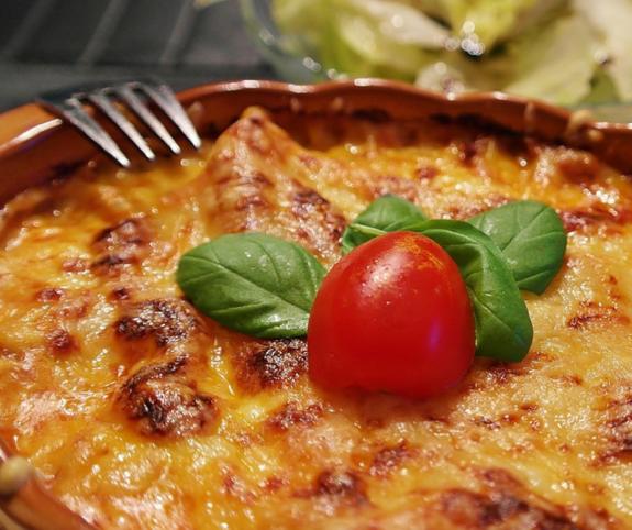 Lasagne s krůtím masem