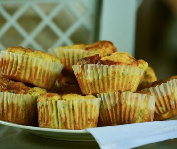 Velikonoční muffiny s uzeným krůtím masem