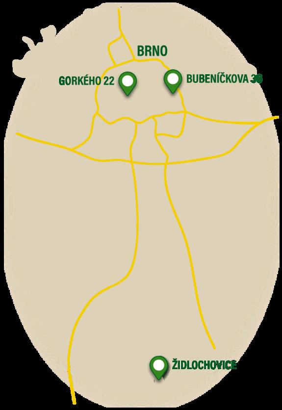 Mapa kamenných prodejen