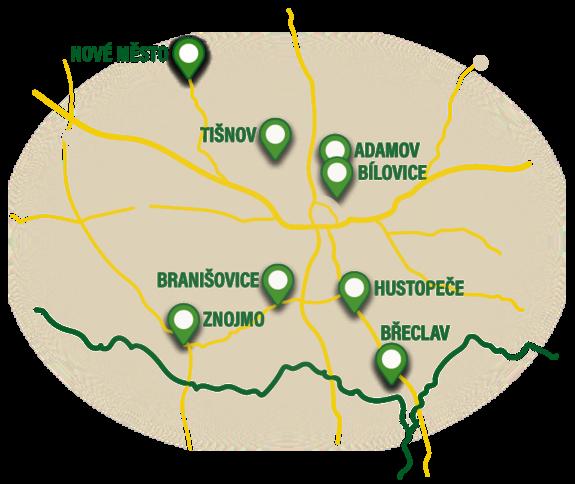 mapa- pojízdná prodejna